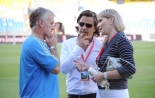Didier Deschamps, Vincent Labrune and Margarita Louis-Dreyfus